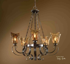 21007 Vetraio 5 LT Chandelier: Impresses One And All Brand Uttermost