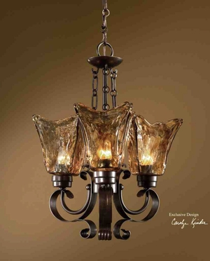 21008 Vetraio 3 Lt Chandelier: Designed Exclusively For Uttermost Brand Uttermost