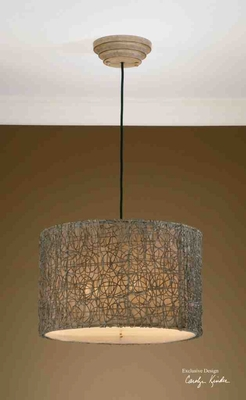 21105 Knotted Rattan Light Hanging Shade: Ideally Perfect Brand Uttermost