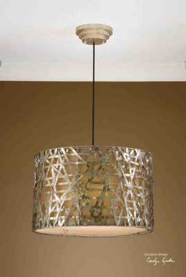 21108 Alita Champagne Metal Hanging Shade: Unique Light Decor Brand Uttermost