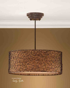 21153 Brandon 3 Lt Hanging Shade: New Statement Of Lighting Brand Uttermost