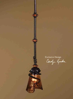 21905 Vitalia 1 Lt Mini Pendant: Cut Glass Shade Makes It Attractive Brand Uttermost