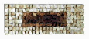 "22"" H Contemporary Wood Wall Art with Natural Wood Finish Brand Woodland"