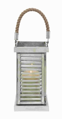 "22"" H Unique Steel Lantern with Matte-Finished Textures Brand Woodland"