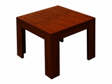"22""X22"" Mahogany End Table by Boss Chair"