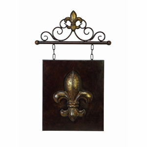 15 Inches Wide Metal Wall Decor - 13420 by Benzara