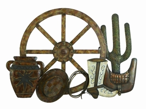 "23"" Classic Western Country Metal Wall Art Decor Sculpture Brand Woodland"