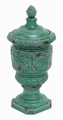 """23""""H Ceramic Jar Including Exquisite Styling in Blue Color Brand Woodland"""