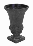 "23""H Ceramic Planter Uen Detailed with Baroque Style Fern Motifs Brand Woodland"