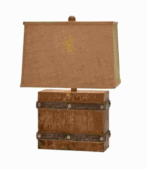 """23""""H Modern Suave Wooden Table Lamp with Antique Base Finish Brand Woodland"""