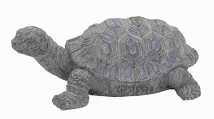 "23"" W Distressed Gray Finish Ceramic Turtle in Unique Design Brand Woodland"