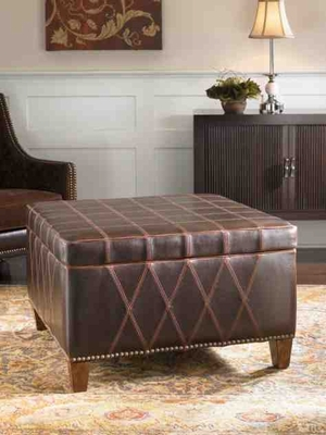 23005 Wattley Storage Ottoman: Offers Invaluable Storage Space Brand Uttermost