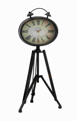 "24"" H Attractive and Unique Metal Clock with Roman Numerals Brand Woodland"