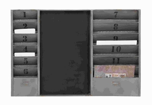 """24"""" H Multi Utility Metal Message Board with With Numbering Brand Woodland"""