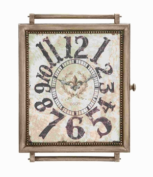 "24""H Stylish Designed Wood Wall Clock In Crafty and Arty Look Brand Woodland"