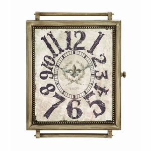 """24""""H Stylish Designed Wood Wall Clock In Crafty and Arty Look Brand Woodland"""