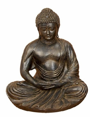 GRAY ? BROWN POLYSTONE BUDDHA 24 INCHES HIGH - 75493 by Benzara
