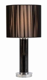 "24"" Table Lamp in Black Metal Finish and Mocha Brown Shade Brand Woodland"