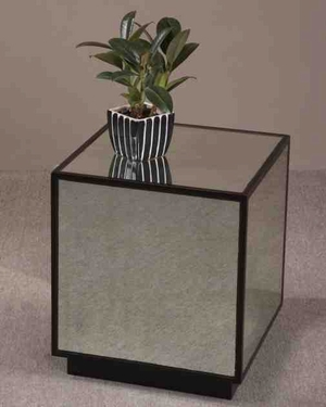 24091 Matty Mirrored Cube: Can Be Used As Lamp Table Also Brand Uttermost