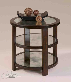 24127 Monteith Lamp Table: Triple Deck Makes It More Usable Brand Uttermost