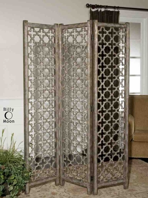 24181 Quatrefoil Floor Screen: Scroll Work Makes It Different Brand Uttermost