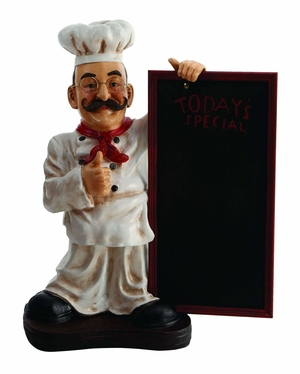 "25"" French Fat Chef With Chalk Board Menu Sign Board Brand Woodland"