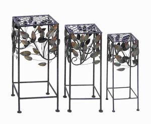 "25""H Durable and long lasting Metal Plant Stand (Set of 3) Brand Woodland"