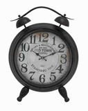 "25"" H Metal Table Clock with Arabic Numbers & Alarm System Brand Woodland"