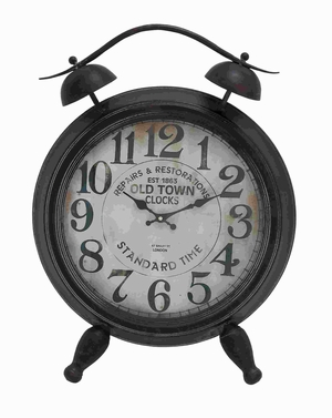 """25"""" H Metal Table Clock with Arabic Numbers & Alarm System Brand Woodland"""