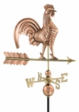 "25"" Rooster Weathervane - Polished Copper by Good Directions"
