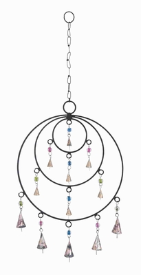 "25"" W Attractive Metal Frame Wind Chime with Circular Design Brand Woodland"