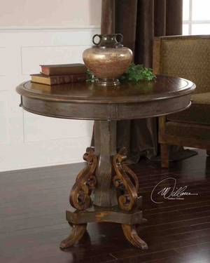 25508 Anya Round Table: Superb Example Of Craftsmanship Brand Uttermost