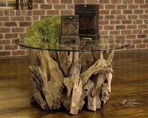 25519 Driftwood Cocktail Table: Affordable Utility- Decor Accent Brand Uttermost