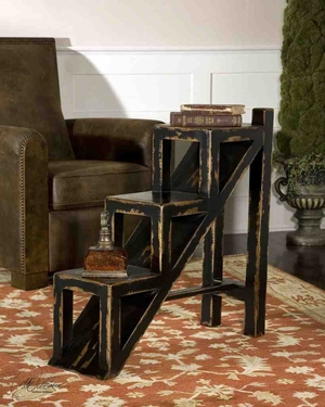 25523 Asher Black Accent Table: Exclusively Designed For UT Brand Uttermost