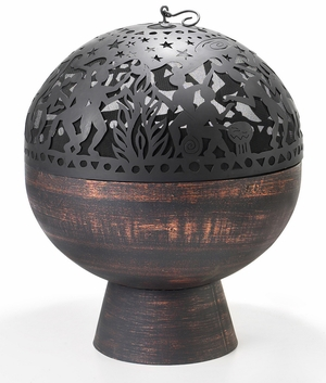 """26"""" Fire Bowl with Full Moon Party FireDome by Good Directions"""