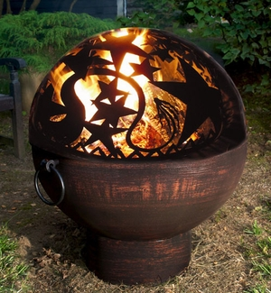 "26"" Fire Bowl with Orion FireDome by Good Directions"