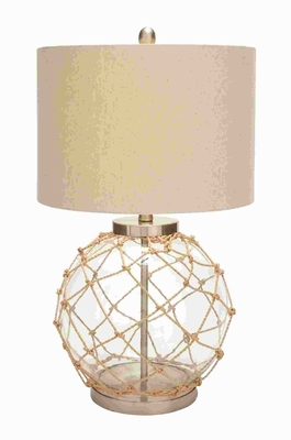 Beautiful Glass Metal Table Lamp with Space Efficient - 97322 by Benzara
