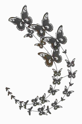 """26"""" H Timeless and Durable Design Metal Butterfly Wall Decor Brand Woodland"""