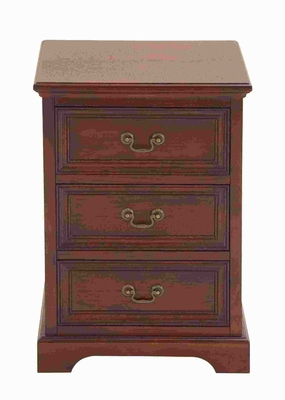 "26""H Wood Night Stand with Beveled Corners and Clean Edges Brand Woodland"