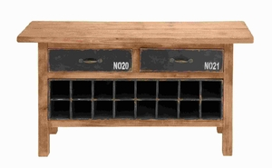 "26""H Wood Wine Cabinet in Modern and Traditional Decors Brand Woodland"