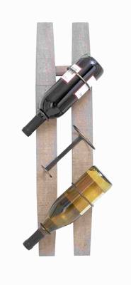 """26""""H Wooden Metal Wine Rack with Spaciously Designed Holders  - 85987 by Benzara"""