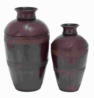 """26"""" Metal Vase with Modern Crafting Techniques (Set of 2) Brand Woodland"""