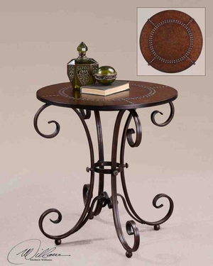 26111 Lyra Accent Table: Perfect For Office And Home Both Brand Uttermost