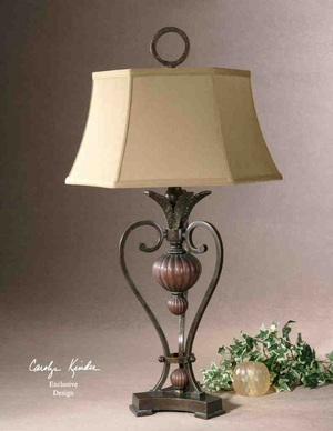 26917 Andra Table Lamp: Triangular Base Pillar Makes It Unique Brand Uttermost