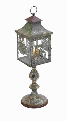 "27"" Classic Metal Candle Holder with Charming Owl Motifs Brand Woodland"