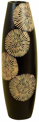 "27"" Classic Resin Les Flair Flower Vase in Black and Gold Brand Woodland"