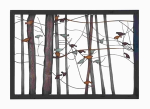 "27""H Classic Metal Wall Decor with Intricate Bird and Tree Motifs Brand Woodland"