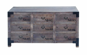 """27""""H Wood Cabinet with Multiple Drawers in High Gloss Finish Brand Woodland"""