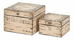 27310 Wood Box Set Of 2 �Decoration With A Purpose Brand Woodland