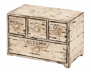 27313 Wood Box With Drawers- Statement Of House Decoration Brand Woodland